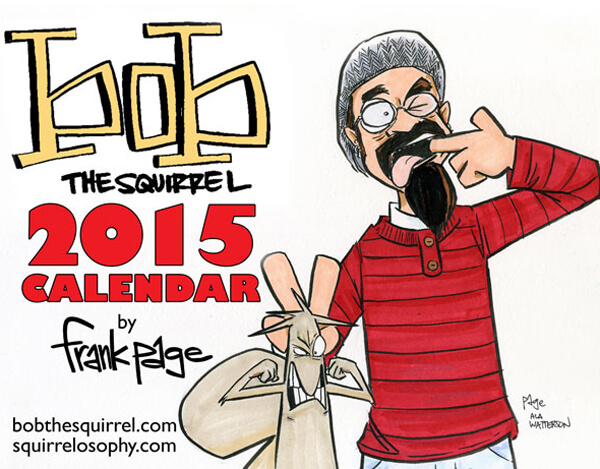 bob the squirrel 2015 calendar