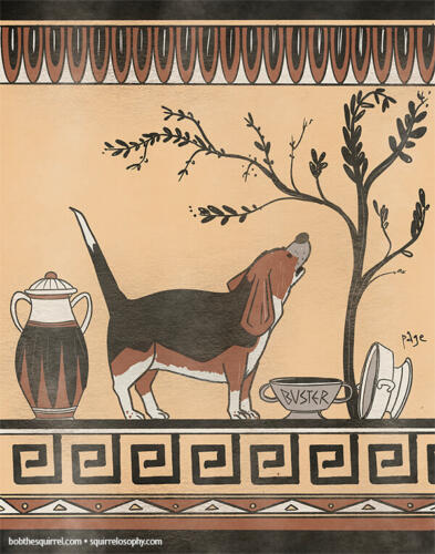 Buster Ancient Greek Art style