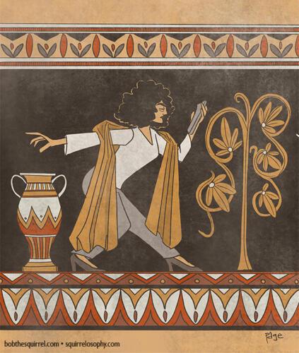 Lauren - Ancient Greek art style