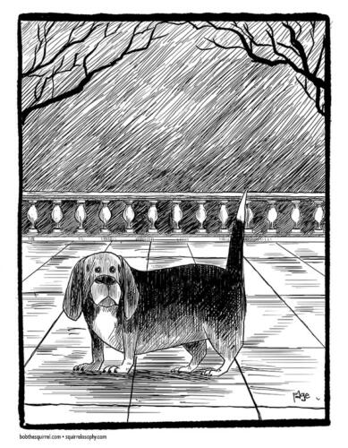 Buster the Beagle - Edward Gorey style